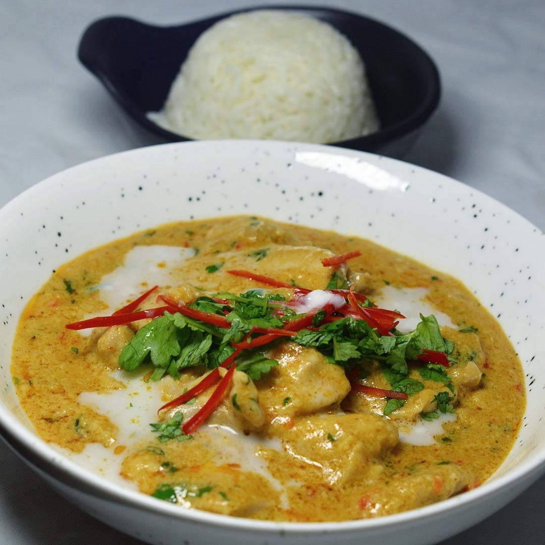 panang kyckling recept